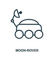 moon-rover icon flat style icon design ui vector image vector image