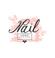 nail logo design template for nail bar manicure vector image vector image