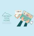 online meeting work form home during covid-19 vector image vector image
