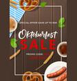 promo flyer for oktoberfest sale vector image vector image