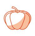 pumpkin fresh vegetable icon vector image