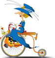 Queen cyclist cartoon vector image vector image