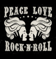 quote typographical background peace love rock n vector image vector image