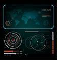 radar interface future vector image vector image