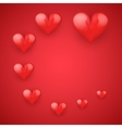Realistic Red Romantic Hearts Decor vector image vector image