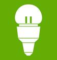 reflector bulb icon green vector image vector image