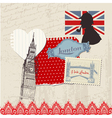 Scrapbook Design Elements - London Vintage Set vector image vector image