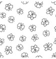 seamless pattern with butterflies doodled endless vector image vector image