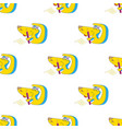 seamless template happy yellow cartoon dog vector image