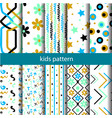 set cute geometric patterns vector image vector image
