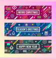 set of abstract christmas background banners vector image vector image