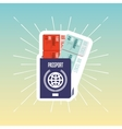 ticket flight isolated icon vector image vector image