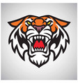 tiger head logo mascot vector image vector image