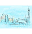 toronto abstract skyline vector image vector image