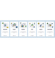 travel outline icons passport air tickets photo vector image