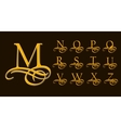 vintage set 2 calligraphic capital letters vector image vector image