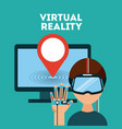 virtual reality flat vector image