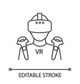 vr player linear icon vector image vector image