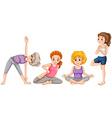 Women doing yaga in different positions vector image vector image