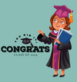 you did it congrats class of 2019 flat poster vector image vector image