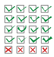 check marks or ticks in boxes vector image