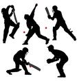 Cricket Sport Silhouette vector image