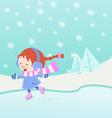 ice skating girl vector image