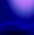 Abstract blue smooth flow background vector image vector image