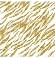 Abstract gold glitter animal print white seamless vector image vector image