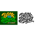 back to school lettering design vector image vector image