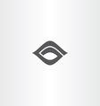 black icon letter g logo logotype g vector image