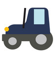 blue tractor on white background vector image