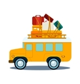 Bus Side View With Heap Of Luggage vector image vector image