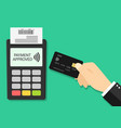 card payment on pos credit and terminal vector image