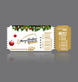 christmas or new year party ticket card design vector image vector image