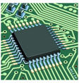 circuit chip on board vector image vector image