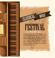 classical music festival flyer vector image vector image