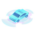 concept smart car icon isometric style vector image vector image