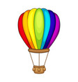 cute cartoon air balloon vector image vector image