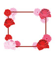 cute roses cartoon vector image vector image
