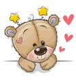 cute teddy bear on a white background vector image