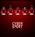 cyber sport team vector image vector image