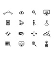 Data analytic simply icons vector image vector image