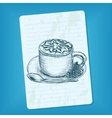 doodle cup of coffee vector image