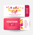 easter voucher with painted eggs vector image
