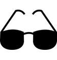 eye glasses icon isolated on white background vector image