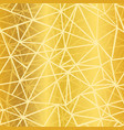 golden yellow glowing geometric mosaic vector image vector image
