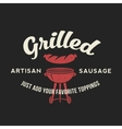 Grilled Artisan Sausage Hot Dog Day Vintage vector image
