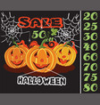 halloween sale 21 vector image