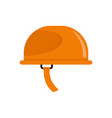 hiking helmet icon flat style vector image vector image